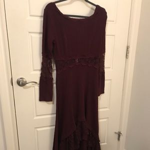 RARE knit Free People high low maxi dress